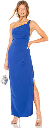 by the way. Norah Ruched Asymmetric Maxi Dress