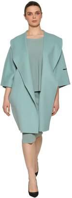 Marina Rinaldi Double Wool Cocoon Coat