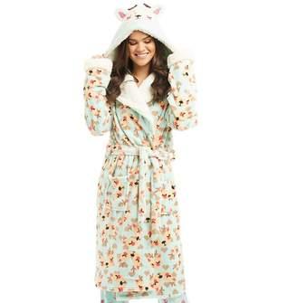 f589e61e55 Chelsea Peers Womens Printed Hooded Dressing Gown Multi