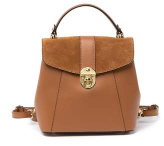 Isabella Collection Rhea Leather Convertible Backpack