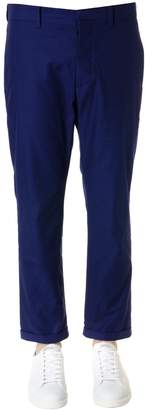 Marni Night Blue Cotton Lapels Pants