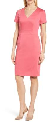 BOSS Dasali V-Neck Sheath Dress