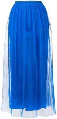 Maison Margiela sheer layered micropleated midi skirt