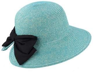 Cloche AccessHeadwear JOYCE Sun Styles 100% Paper Straw Ladies Style Sun Hat - AH-061-PBL