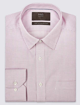 Marks and Spencer Pure Cotton Non-Iron Twill Regular Fit Shirt