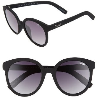 Women's Quay Australia High Tea Round Sunglasses - Black Smoke $55 thestylecure.com