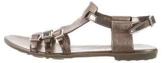 AGL Metallic Leather Sandals