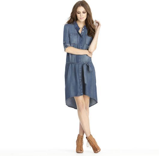 Rachel Roy Pocket Denim Dress