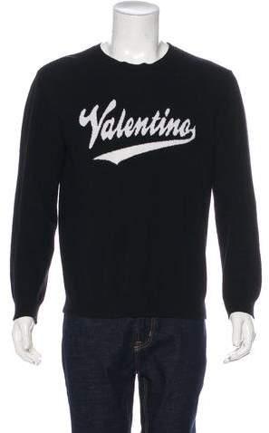 Valentino Virgin Wool & Cashmere Logo Sweater