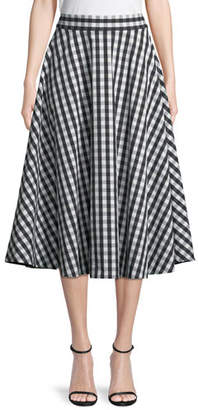 Kate Spade Gingham Cotton Circle Skirt