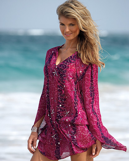 Georgette cover-up tunic