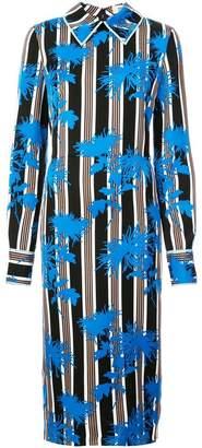 Diane von Furstenberg striped floral dress