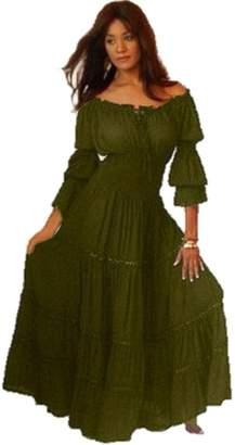 LOTUSTRADERS Ruffled Dress Peasant Smocked 3X A1290