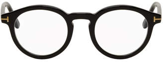 Tom Ford Black Blue Block Thick Round Glasses