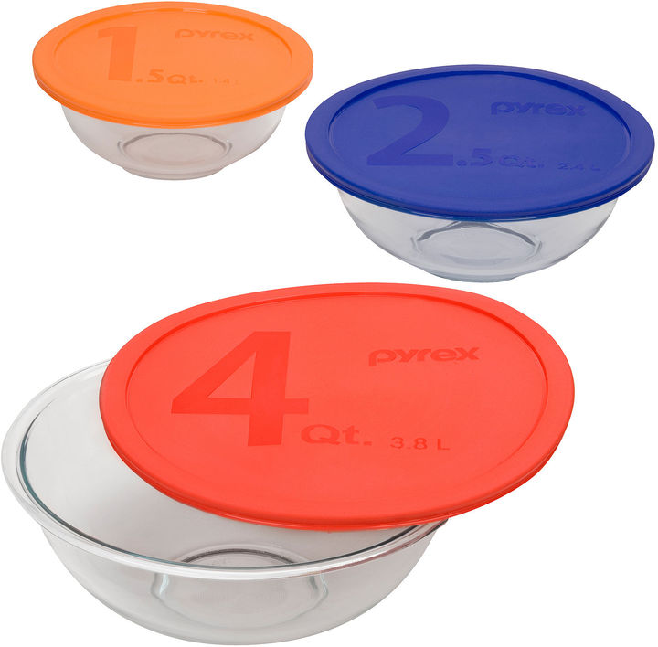 Pyrex Smart Essentials 6-pc. Mixing Bowl Set