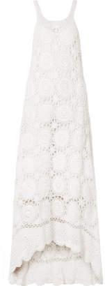 Mes Demoiselles Secret Crocheted Cotton Maxi Dress - White