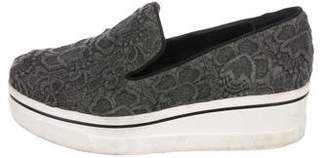 Stella McCartney Embroidered Platform Sneakers