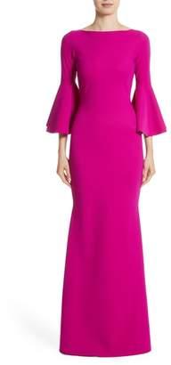 Chiara Boni Iva Bell Sleeve Gown