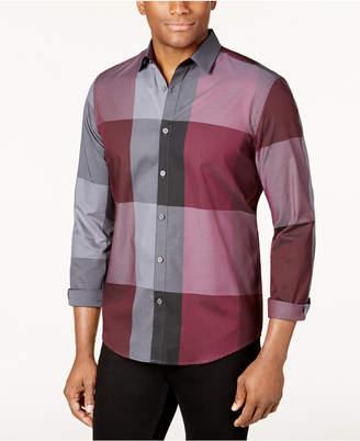 Alfani Men's Plaid Long-Sleeve Shirt, Classic Fit, Created for Macy's