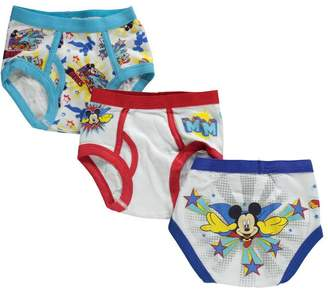 """Disney Mickey Mouse Little Boys' Toddler """"Club Friends"""" 3-Pack Briefs"""