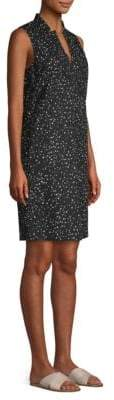Eileen Fisher Dot Print Organic Cotton Dress