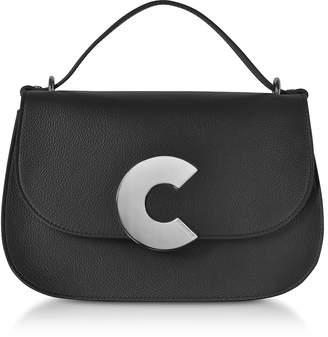 Coccinelle Craquante Grained Leather Satchel Bag w/Shoulder Strap