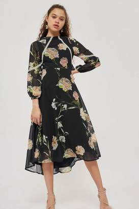Hope and Ivy **Open Back Floral Skater Dress by Hope & Ivy