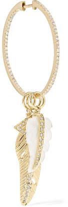 Jacquie Aiche 14-karat Gold Diamond Hoop Earring