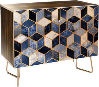 Deny Designs Blue Cubes Credenza