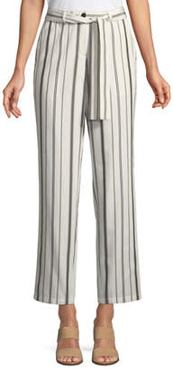 Lafayette 148 New York Fulton Gallant Striped Straight-Leg Pants