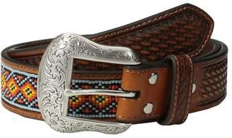 M&F Western Embossed Tab Diamond Beaded Inlay Belt Men's Belts