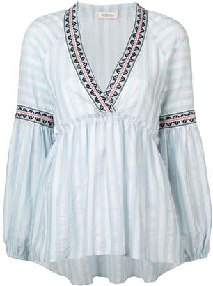 Lemlem Nefasi striped peplum blouse
