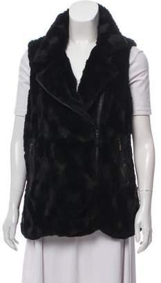 Adrienne Landau Faux Fur Zip Vest