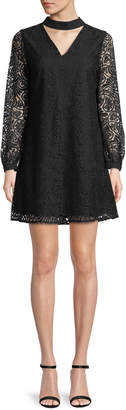 Cynthia Steffe Cece By Paisley-Lace Choker A-line Dress