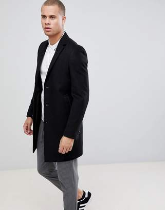 New Look overcoat in black