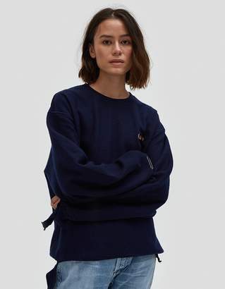 Collina Strada Sweatshirt Grommeted in Navy