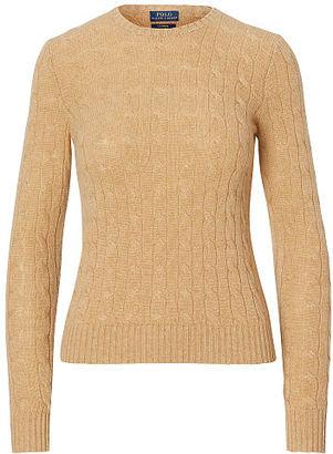 Polo Ralph Lauren Slim Cable Cashmere Sweater $398 thestylecure.com