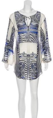 Jean Paul Gaultier Soleil Mesh Printed Dress
