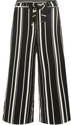 Dorothy Perkins Womens Black and White Striped Crop Trousers