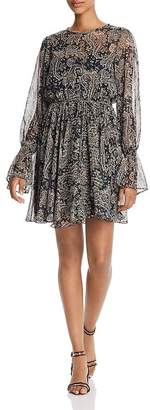 Joie Manning Paisley-Print Mini Dress