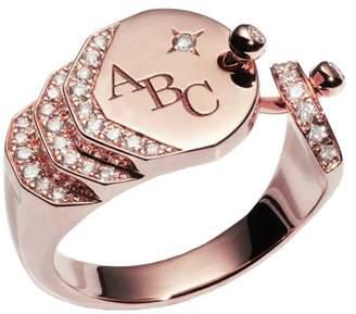 Nouvel Heritage - Engraved Sparkles Ring - Rose Gold