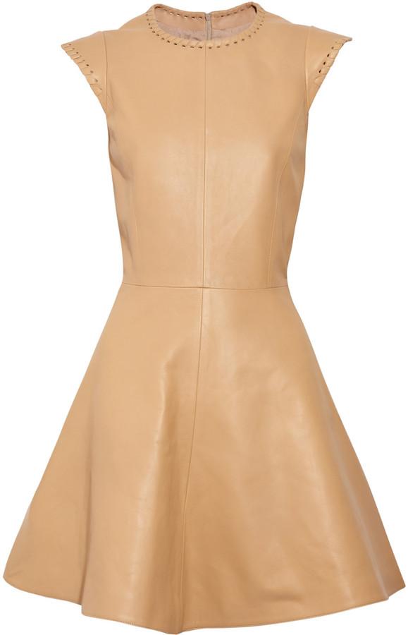 Chloé Whipstitch leather dress