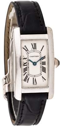 Cartier Tank Américaine white gold watch