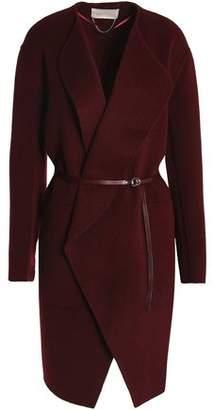 Vanessa Bruno Leather-Trimmed Wool And Cashmere-Blend Felt Coat