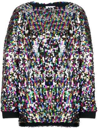 Mira Mikati sequin oversized top