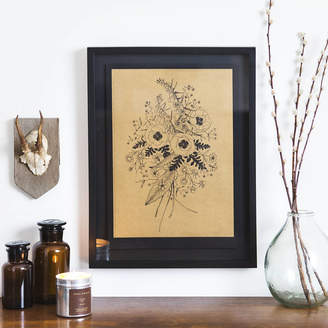 STUDY YVE PRINT CO. Wildflower Metallic Gold Risograph Print