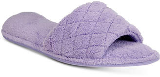Charter Club Open-Toe Memory Foam Scuff Slippers, Created for Macy's