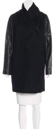 Vince Wool & Leather Coat
