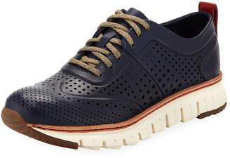 Cole Haan Men's ZeroGrand Perforated Sneakers Medium Blue