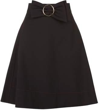 Claudie Pierlot Bow Detail A-Line Skirt